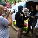 being interviewed by International Business Times